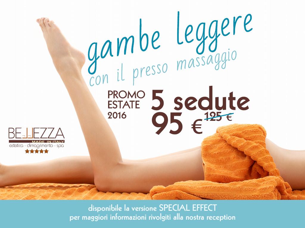 pressomassaggio gambe promozione offerta bellezza made in italy udine
